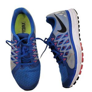 Nike Womens Zoom Vomero Size 9 642196-400 Blue Black Pink Running Shoes Lace Up